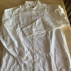 Men's white cotton shirt Old Navy  large
